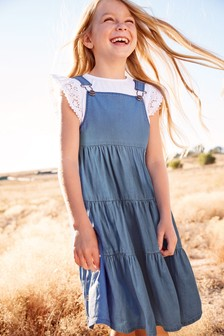 Tiered Pinafore Dress (3-16yrs)