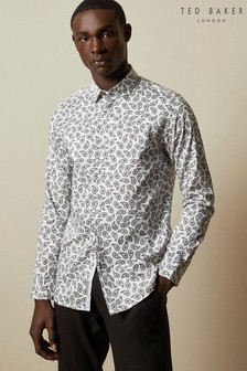 Ted Baker White Lapins Paisley Print Shirt