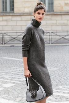 Lofty Roll Neck Jumper Dress