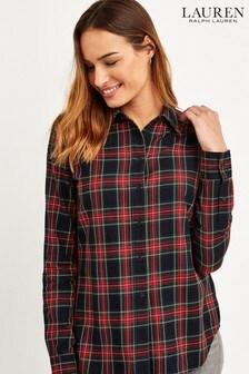 Lauren Ralph Lauren Red Check Jamelko Shirt