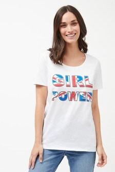 "Футболка с надписью ""Girl Power"""