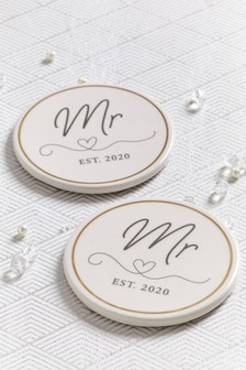 Set of 2 Mr And Mr Coasters