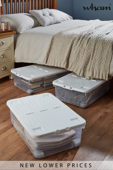 Set of 3 Uni 32L Folding Lid And Wheels Boxes by Wham