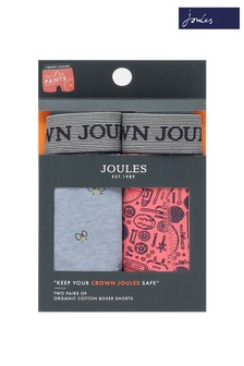 Joules Blue/Pink Crown Underwear Two Pack