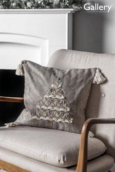 Gallery Direct Natural Christmas Tree Tassel Cushion
