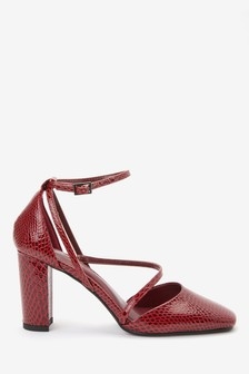 Strappy Two Part Block Heel Shoes