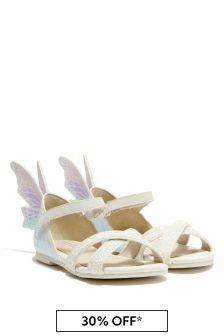 Sophia Webster Girls White Talulah Sandals