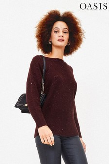 Oasis Purple Betty Sequin Jumper