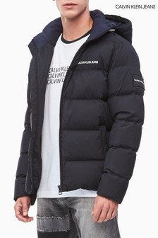 Calvin Klein Jeans Black Hooded Down Padded Jacket