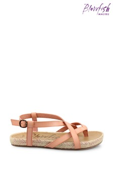 Blowfish Pink Granola Rope Braided Jute Wrapped Strappy Sandals