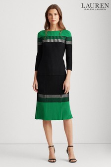 Lauren Ralph Lauren® Black Colour Block Knitted Co-Ord Skirt