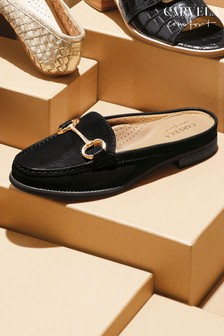 Carvela Comfort Black Clayton Leather Loafers