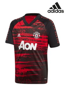 adidas Red Manchester United Pre Match T-Shirt