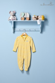 The Essential One Unisex Baby Yellow Stripe Sleepsuit