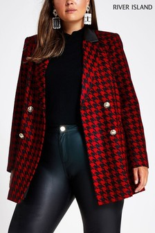 River Island Black An Dred Dogtooth Alexa Jacket