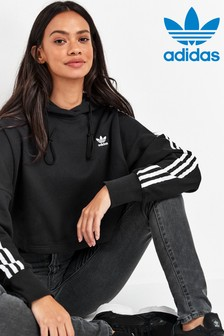 adidas Originals 3 Stripe Cropped Hoody