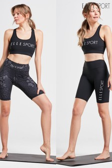 ELLE Sport 2 Pack Performance Leopard Print Cycling Shorts