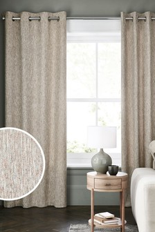 Metallic Weave Eyelet Lined Curtains