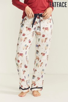FatFace Natural Festive Sheep Classic Pants