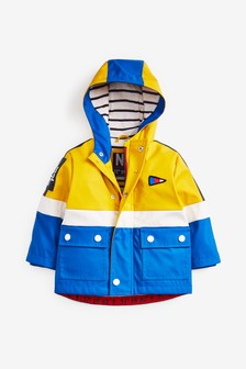 Shower Resistant Nautical Rubber Jacket (3mths-7yrs)