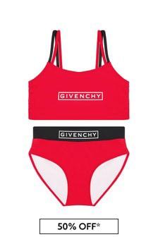 Givenchy Kids Girls Red Bikini