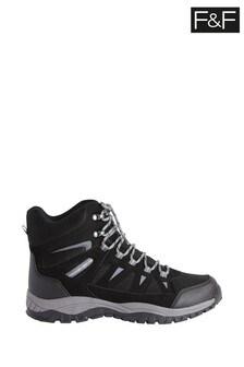 F&F Black Waterproof Hiker Boots