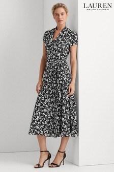 Lauren Ralph Lauren® Black Floral Amit Shirt Dress