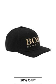 Boss Kidswear Boys Black Cotton Hat