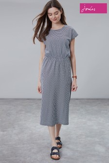 Joules Blue Alma Half Wrap Dress