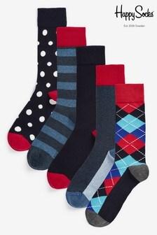 Happy Socks Argyle Socks Five Pack