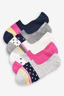 Rainbow Invisible Socks Five Pack