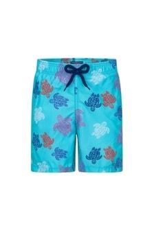 Vilebrequin Boys Blue Turtles Swim Shorts