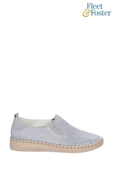 Fleet & Foster Grey Tulip Slip-On Shoes