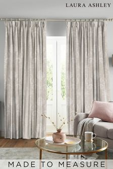Laura Ashley Josette Dove Grey Made to Measure Curtains