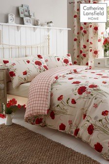 Wild Poppies Easy Care Duvet Cover and Pillowcase Set by Catherine Lansfield