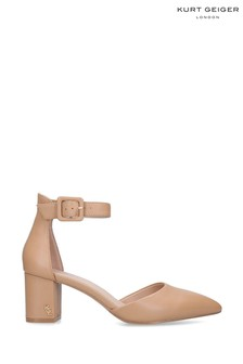 Kurt Geiger Ladies Burlington Camel Leather Courts