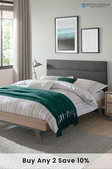 Brunel Scandi Steel Upholstered Bed by Bentley Designs