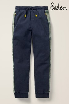 Boden Navy Sporty Twill Joggers
