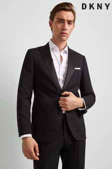 DKNY Black Peak Lapel Jacket