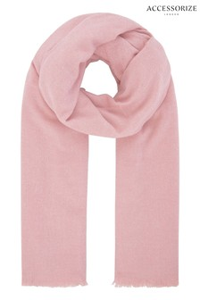 Accessorize Pink Wells Supersoft Blanket
