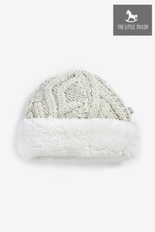 The Little Tailor Grey Soft Plush Lined Knitted Hat