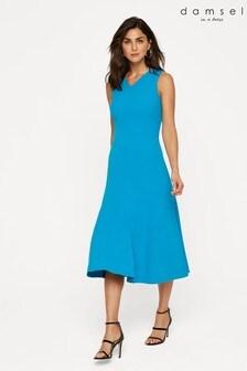 Damsel In A Dress Blue Latasha Seamed Midi Dress