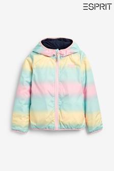 Esprit Navy Rainbow Reversible Jacket