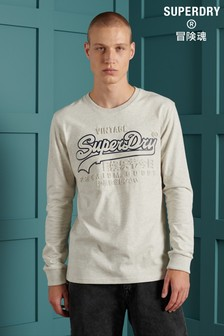 Superdry Vintage Logo Embroidered Long Sleeve T-Shirt