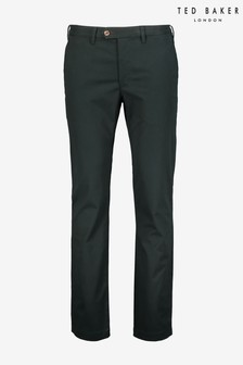Ted Baker Green Seenchi Slim Fit Cotton Chinos