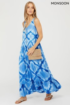 Monsoon Zaria Ecovero Tie Dye Maxi Dress