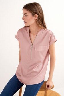 Zip Neck T-Shirt