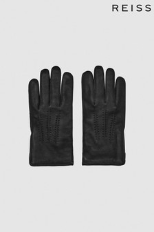 Reiss BIowa Leather Zip Detail Gloves