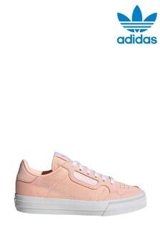 adidas Originals Pink Continental 80 Vulc Junior Trainers