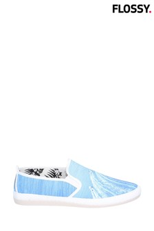 Flossy Blue Carota Slip-On Shoes
